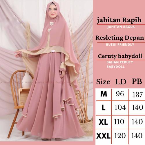Foto Produk Baju Gamis Wanita Syari Terbaru Set Hijab Khimar Pesta Jumbo Busui dari Gamis online_