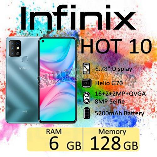 Foto Produk Infinix Hot 10 6/128 GB Garansi Resmi - moonlight Jade dari ACS