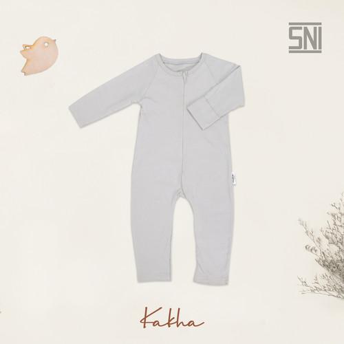 Foto Produk Kakha Series sleeepsuit bayi lengan panjang / Jumper bayi - Grey, 6-12 Bulan dari kakhaofficial