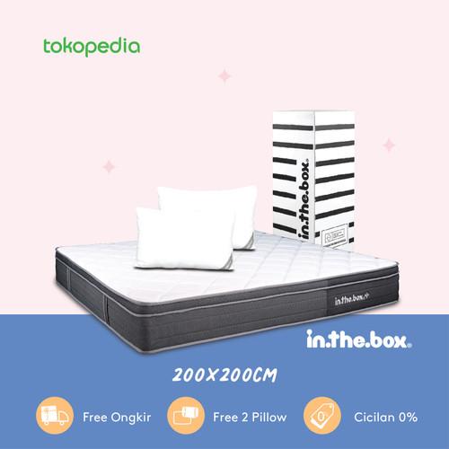 Foto Produk Kasur Spring Bed IN THE BOX PLUS UK 200x200 (Super King) FREE PILLOW dari INTHEBOX Official Store