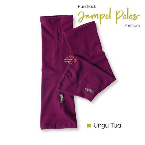 Foto Produk Handsock JEMPOL Polos Premium Kaheci Jersey Super - Ungu dari griyahijabq