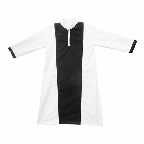 Foto Produk BAJUYULI - Koko Gamis Baju Muslim Anak Cowo Murah Hitam Putih KGS02 - S dari Bajuyuli