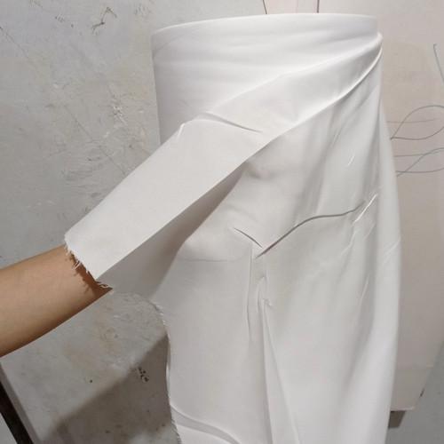 Foto Produk kain katun mikro polos putih 1 meter dari Nat_Corner
