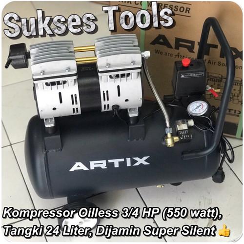 Foto Produk Artix OA 0724 OA0724 Kompressor Oilless Kompressor Silent 3/4 HP 24 L dari Sukses Tools
