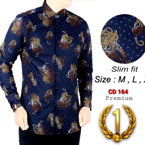 Foto Produk KEMEJA BATIK UNIK SLIM FIT / GA07 / BATIK PRIA SLIMFIT / MIX CLOTHING dari mixtomax