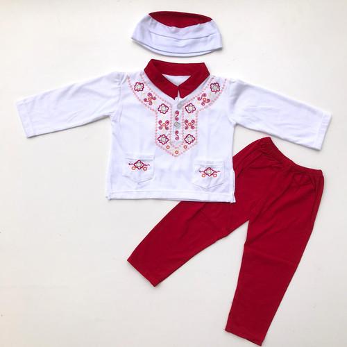 Foto Produk baju koko bayi baju muslim koko setelan peci murah anak bayi laki -noa dari babyclothingco