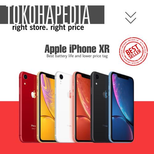Foto Produk [DUAL NANO] iPhone 64GB / 64 XR - Black White Yellow Red Coral Blue - BLACK dari tokohapedia