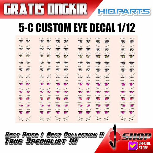 Foto Produk HIQ Part - 5-C Custom Eye Decal 1-12 (1 Sheet) dari J-SHOP INDONESIA