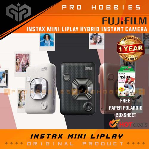 Foto Produk FUJIFILM INSTAX Mini LiPlay Hybrid Instant Camera Instan - Blush Gold dari Pro Hobbies
