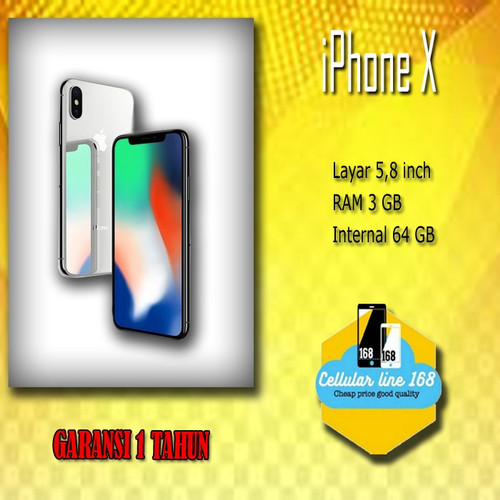 Foto Produk NEW Apple iPhone X 64GB Garansi 1 Tahun Silent Cam dari cellularline168