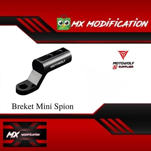 Foto Produk Breket Mini Spion MOTOWOLF Universal Holder HP,Go Pro Aluminum Alloy dari MX MODIFICATION