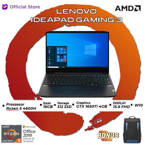 Foto Produk Lenovo IdeaPad Gaming 3 58ID   Ryzen 5 4600H 16GB 512ssd GTX1650Ti 4GB dari AMD Official Store