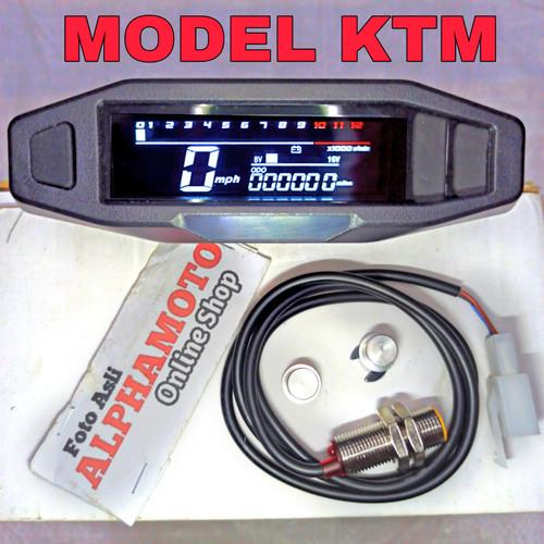 Foto Produk spidometer rpm model ktm digital spido cb 100 megapro tiger gl pro klx - KTM dari ALPHAMOTO