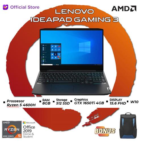 Foto Produk Lenovo IdeaPad Gaming 3 N1ID | Ryzen 5 4600H 8GB 512ssd GTX1650Ti 4GB - 8GB dari AMD Official Store