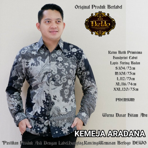 Foto Produk kemeja pria slimfit batik aradana premium dari Jivan Batik