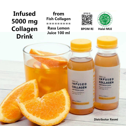 Foto Produk Collagen Drink Infused Fish Collagen Halal BPOM RI Lemon Taste dari kampoengutan