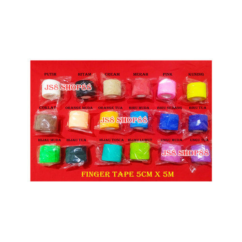 Foto Produk (ECERAN) KINESIO TAPE - FINGER TAPE - WRIST TAPE 5CM x 5M - FINGER TAPE dari js8 shop88
