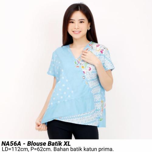 Foto Produk BIGSIZE BLOUSE BATIK MODERN XL ATASAN CEWEK JUMBO FASHION WANITA MURAH - Biru Muda dari Ace Sakura Fashion