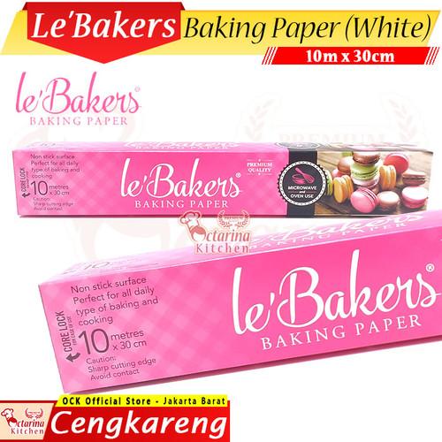 Foto Produk Le Bakers Baking Paper 30 cm x 10 m Putih - Kertas Roti Roll LeBakers dari Octarina Kitchen