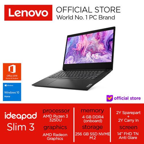 Foto Produk Lenovo IdeaPad Slim 3 Ryzen 3 3250U 4GB 256SSD Win10+OHS - Business Black, 4 gb dari Lenovo Official