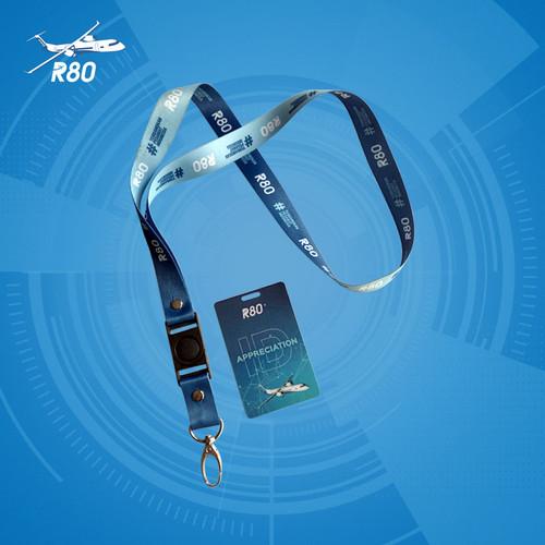 Foto Produk Lanyard ID Card R80 : R80 Appreciation ID dari Official Pesawat R80