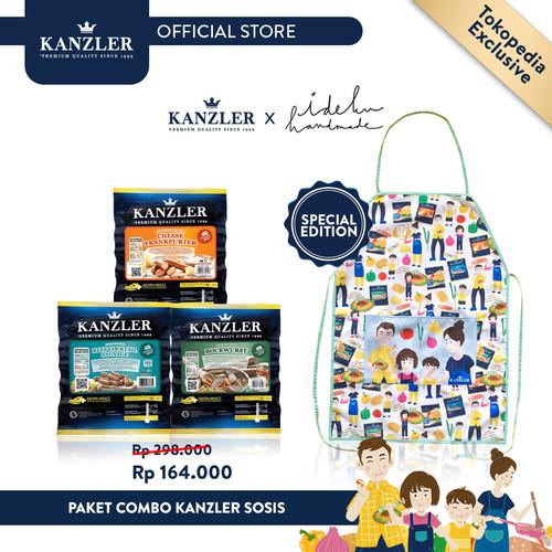Foto Produk Paket Combo Kanzler Sosis FREE KANZLER X IDEKUHANDMADE APRON dari Kanzler Official Store