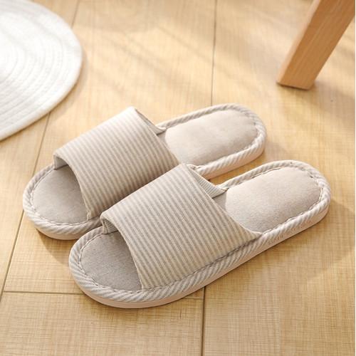 Foto Produk Sandal Rumah Empuk Anti Slip Sendal Bahan Flanel Slipper Rumah - Beige, 37-38 (S) dari Homecart Official Shop