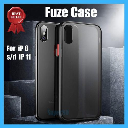 Foto Produk Casing Premium iPhone X 6 7 8 Plus Silicone Soft Case Silicon Thin - Hitam, 6 / 6s dari Super80