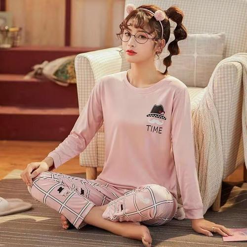 Foto Produk BAJU TIDUR WANITA / PIYAMA ANAK ABG / REMAJA SET PANJANG IMPORT - Biru Muda, L dari baju tidur piyama