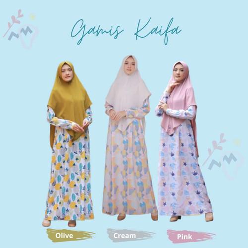 Foto Produk Gamis Dewasa Kaifa Set Jilbab by Noura dari kedai berkah