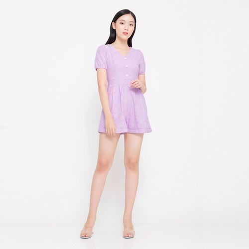Foto Produk Chocochips - Fabia Romper Lavender - Ungu, S dari Chocochips Official Shop