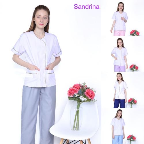 Foto Produk Baju seragam suster/ Baju baby sitter/ Baju nanny/ Seragam klinik - S, Biru dari KidsGallery
