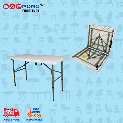 Foto Produk Meja Makan Lipat Portable SAPPORO BURSA - Granite White dari Sapporo Furniture Online