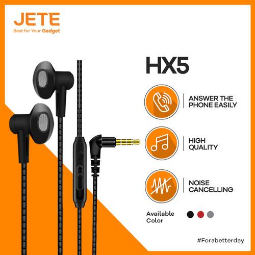 Foto Produk JETE Headset HX5 Earphone - Headphone - Handsfree Super Bass - Merah dari JeteIndonesia