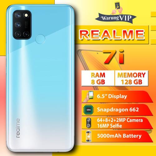 Foto Produk Realme 7i 8/128 RAM 8GB Internal 128GB Garansi Resmi - Biru dari Warung VIP