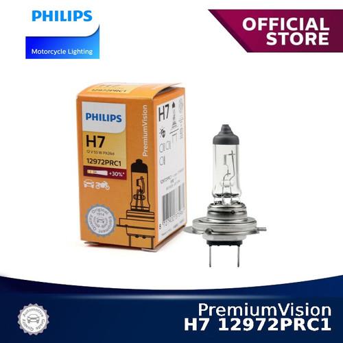 Foto Produk PremiumVision H7 12972PRC1 Bola Lampu Motor Philips dari Philips Moto