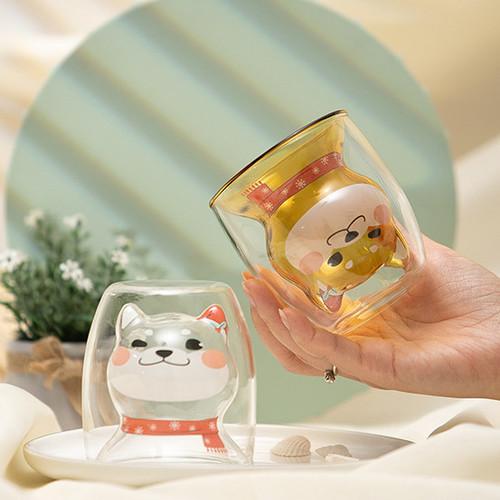 Foto Produk UCHII Akita Series Shiro Mug   Double Wall Glass Milk Cup Coffee Tea - Transparan dari uchii store