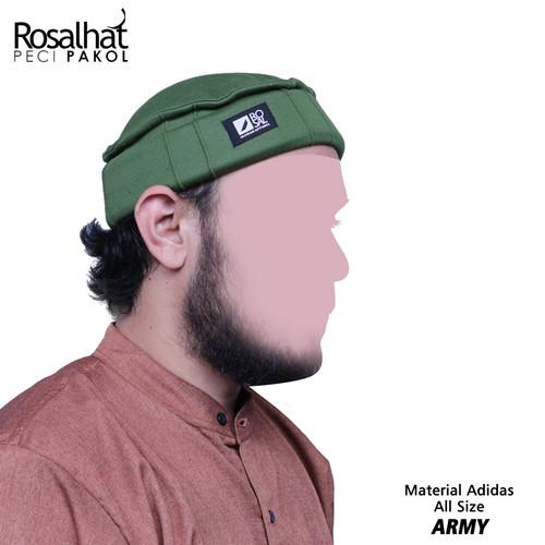 Foto Produk Topi Pakol - Rosal Hat - Peci Pakol - Peci Hijrah - Hijau Army dari MpokAlice