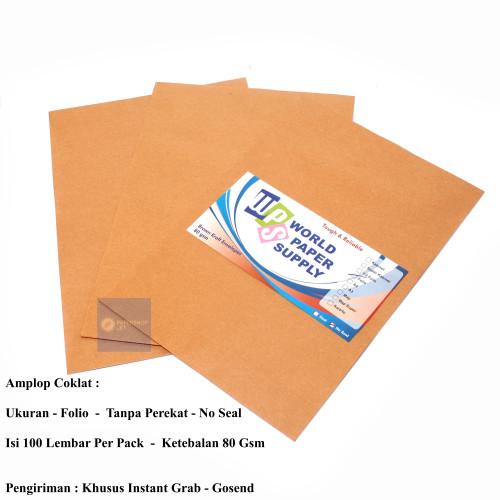 Foto Produk TERMURAH!!! Amplop Coklat Ukuran Folio WPS ( 23,5 x 34,5 cm ) dari Paper Shop Jkt
