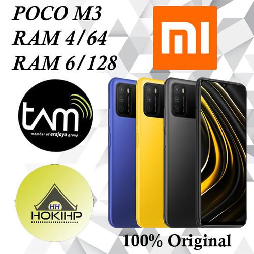 Foto Produk POCO M3 RAM 4/64 GB - 6/128 GB GARANSI RESMI - Biru, 6GB 128GB dari HokiHP