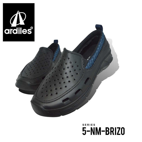 Foto Produk sepatu ardiles slip on karet pria brizo anti air - HT/BIRU, 39 dari makmurminulyo