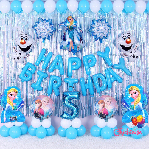 Foto Produk Set Paket balon frozen elsa anna ulang tahun pesta birthday dekorasi - angka 1 dari chic lit case