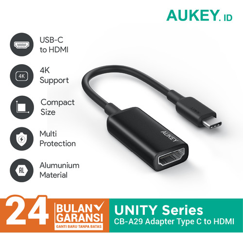 Foto Produk Aukey CB-A29 Type C Adaptor (USB-C to HDMI Port) - 500585 dari AUKEY