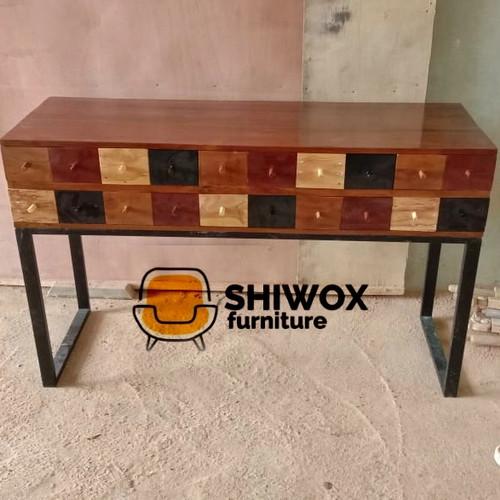 Foto Produk Meja lobby kombinasi Laci-laci Bahan kayu jati dari rafa jaya teknik