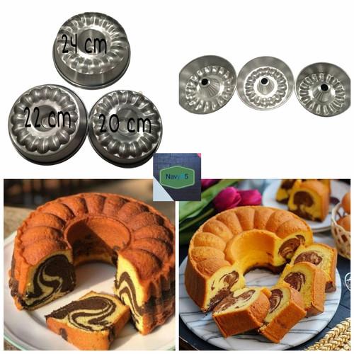 Foto Produk Loyang Cetakan Kue Bolu Salur / Cetakan Marmer Cake /Loyang Kick Press - 24 Cm dari navy95 Loyang