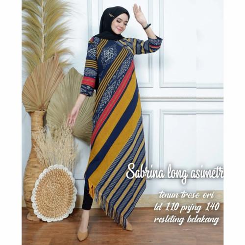 Foto Produk dress asimetris tunik tenun Troso dari Batik Sri