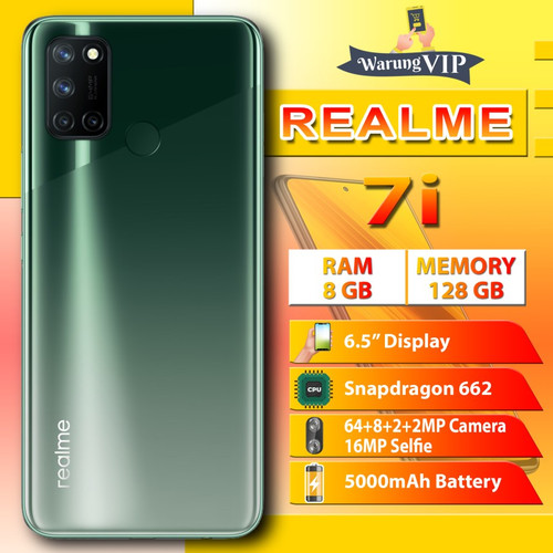 Foto Produk Realme 7i 8/128 RAM 8GB Internal 128GB Garansi Resmi - Hijau dari Warung VIP