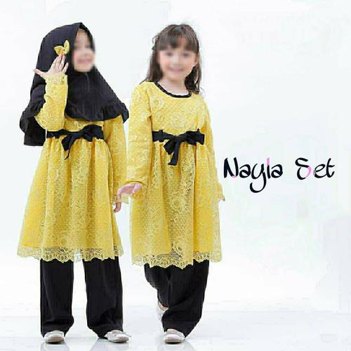 Foto Produk Setelan Anak Baju Anak Perempuan 8-10 Tahun Baju Muslim NAYLA SET KIDS - mustard dari TOF Bandung