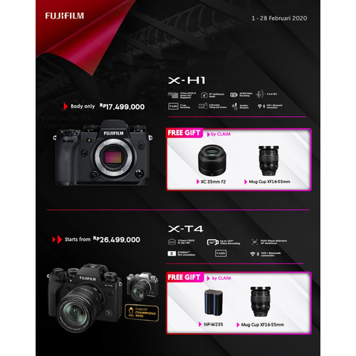 Foto Produk Fujifilm X-T4 Body Only - Kamera Mirrorless Fujifilm XT4 BO dari taskamera-id