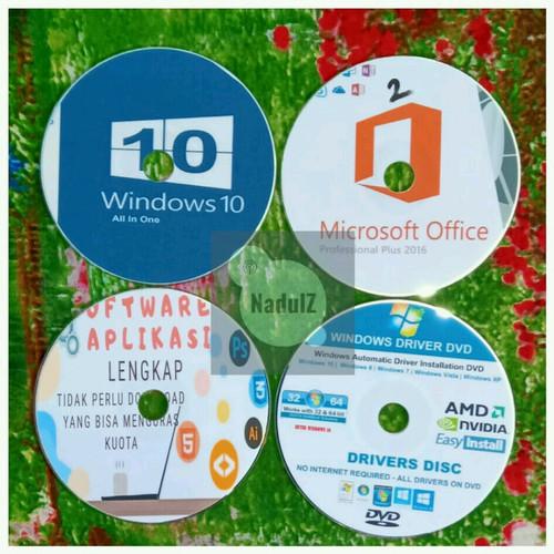Foto Produk DVD INSTALL ULANG REPAIR WINDOWS 10 - 32 bit dari NadulZ